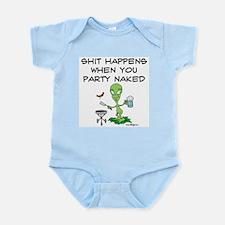 Shit Happens Naked Infant Bodysuit