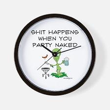 Shit Happens Naked Wall Clock