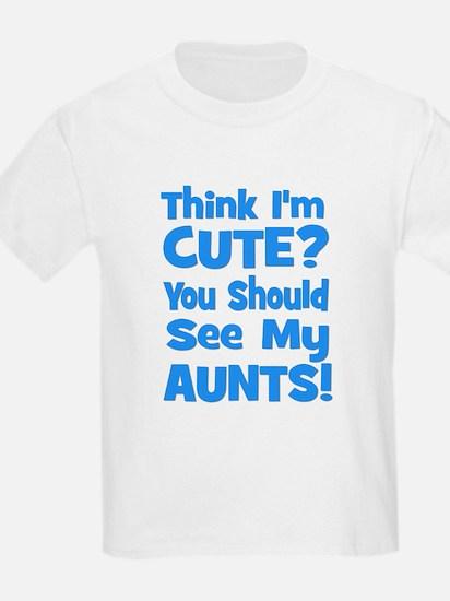 Think I'm Cute? AuntS (plural Kids T-Shirt