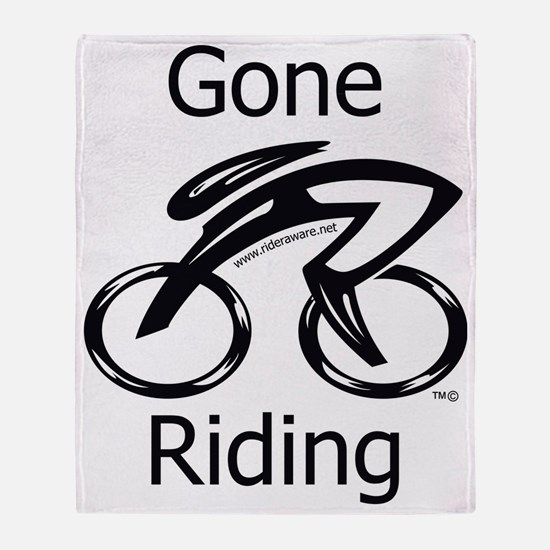 Gone_riding Throw Blanket