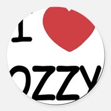 OZZY Round Car Magnet