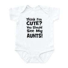 Think I'm Cute? Aunts (Plural Infant Bodysuit