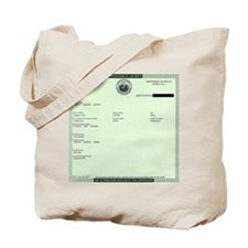 BO_Birth_Certificate Tote Bag
