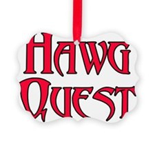 Hawg Quest blk outline lg Ornament