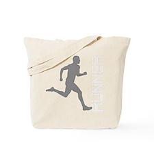 runner10inWHITE Tote Bag