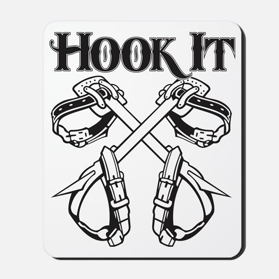 Hook it lineman logo 1 Mousepad