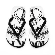 Hook it lineman logo 1 Flip Flops