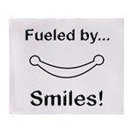 Fueled by Smiles Throw Blanket