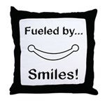 Fueled by Smiles Throw Pillow
