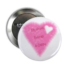 "My Heart Belongs To Daddy 2.25"" Button (10 pack)"