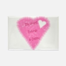 My Heart Belongs To Daddy Rectangle Magnet