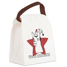 Llamas-D9-WaterBottle Canvas Lunch Bag