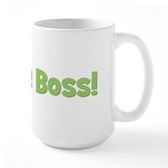 I'm The Boss! Green Mug