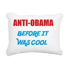 AO-WHITE Rectangular Canvas Pillow