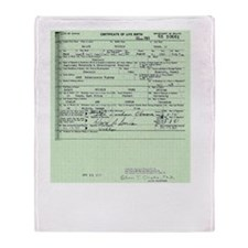 obama birth certificate 2 Throw Blanket