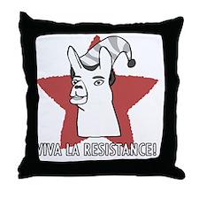 Llamas-D9-BlackApparel Throw Pillow