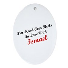In Love with Ismael Oval Ornament