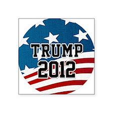 """Trump 2012 Button Square Sticker 3"""" x 3"""""""