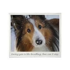 loving you is like breathing Throw Blanket