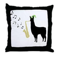 Llamas-D12-WhiteApparel Throw Pillow