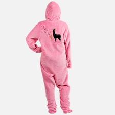 Llamas-D12-WhiteApparel Footed Pajamas
