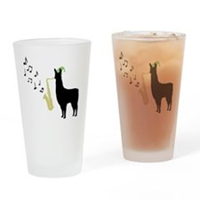 Llamas-D12-WhiteApparel Drinking Glass