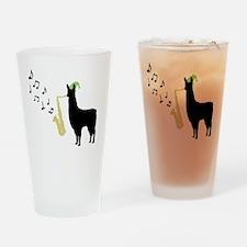 Llamas-D12-WhiteApparel Drinking Glass