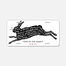 year of the rabbit tee Aluminum License Plate