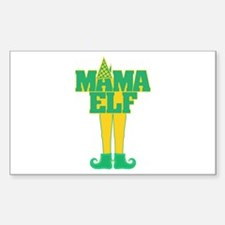 Mama Elf Sticker (Rectangle)
