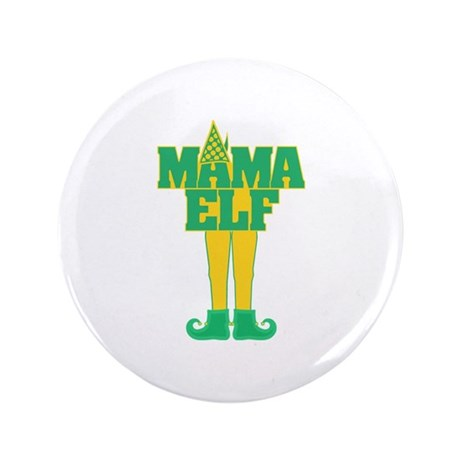 """Mama Elf 3.5"""" Button (100 pack)"""