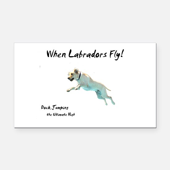 Cute Yellow lab Rectangle Car Magnet