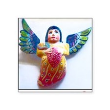 "painted angel Square Sticker 3"" x 3"""