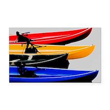 kayaks Rectangle Car Magnet
