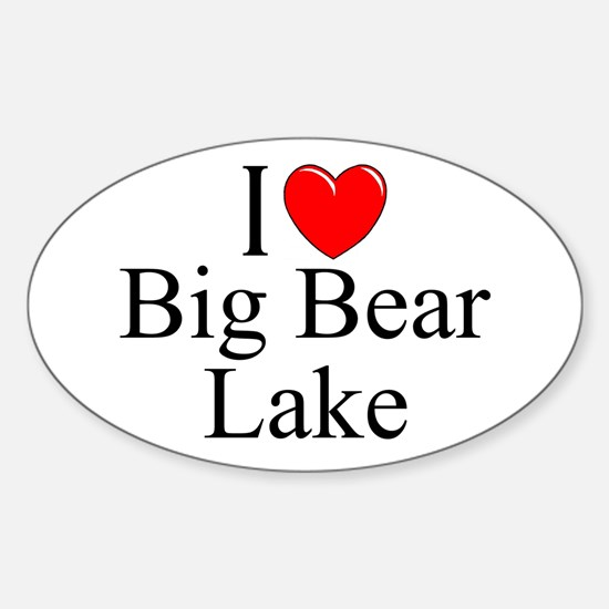"""I Love Big Bear Lake"" Oval Decal"