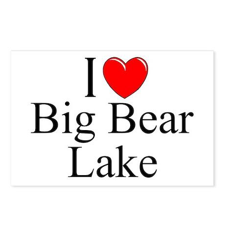 """I Love Big Bear Lake"" Postcards (Package of 8)"