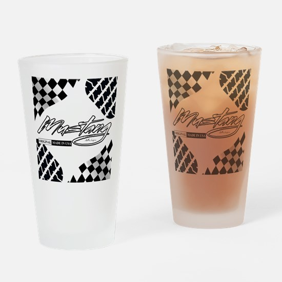 mustangusa22atire2 Drinking Glass