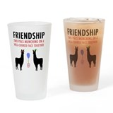 Llamas with carl Pint Glasses
