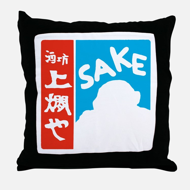 SAKE Shirt_CP Throw Pillow