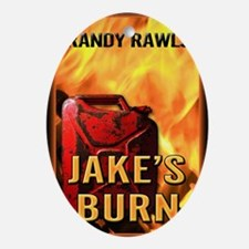 Jakes Burn greeting card Oval Ornament