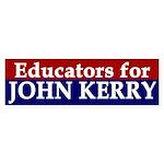 Educators for John Kerry (bumper sticker)