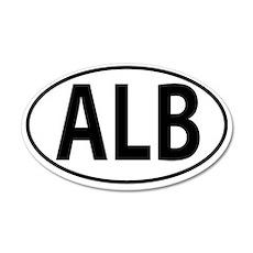 ALB - Albania Oval 35x21 Oval Wall Decal
