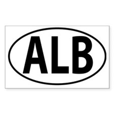 ALB - Albania Oval Decal