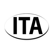 ITA - Italy Oval Oval Car Magnet