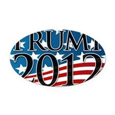 Trump 2012 Sign Oval Car Magnet