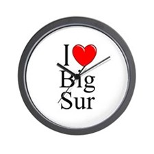 """""""I Love Big Sur"""" Wall Clock"""