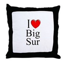 """I Love Big Sur"" Throw Pillow"