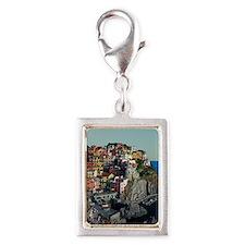 Cinque Terre - Manarola Silver Portrait Charm