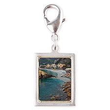 Cinque Terre - Monterosso Silver Portrait Charm