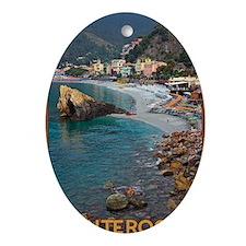 Cinque Terre - Monterosso Oval Ornament