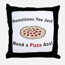 Pizza Ass! Throw Pillow